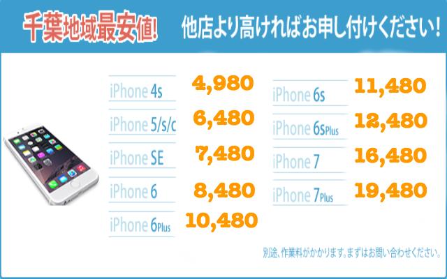 千葉県松戸のiPhone修理の料金表|iphoneお直し本舗 千葉県松戸店