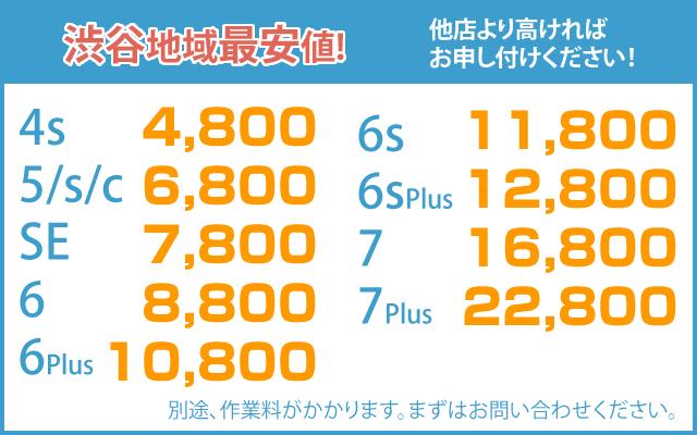 渋谷のiPhone修理の料金表|iphoneお直し本舗 渋谷店