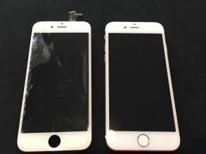 0124|iPhone6|フロントガラス修理