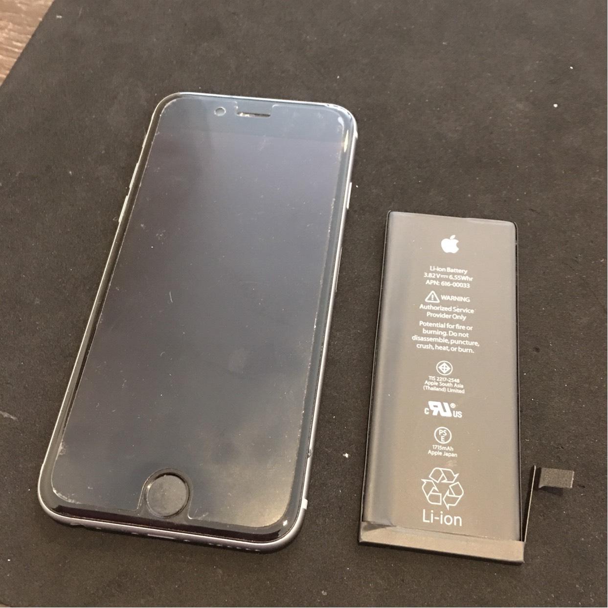 1117|iPhone6s|バッテリー交換修理