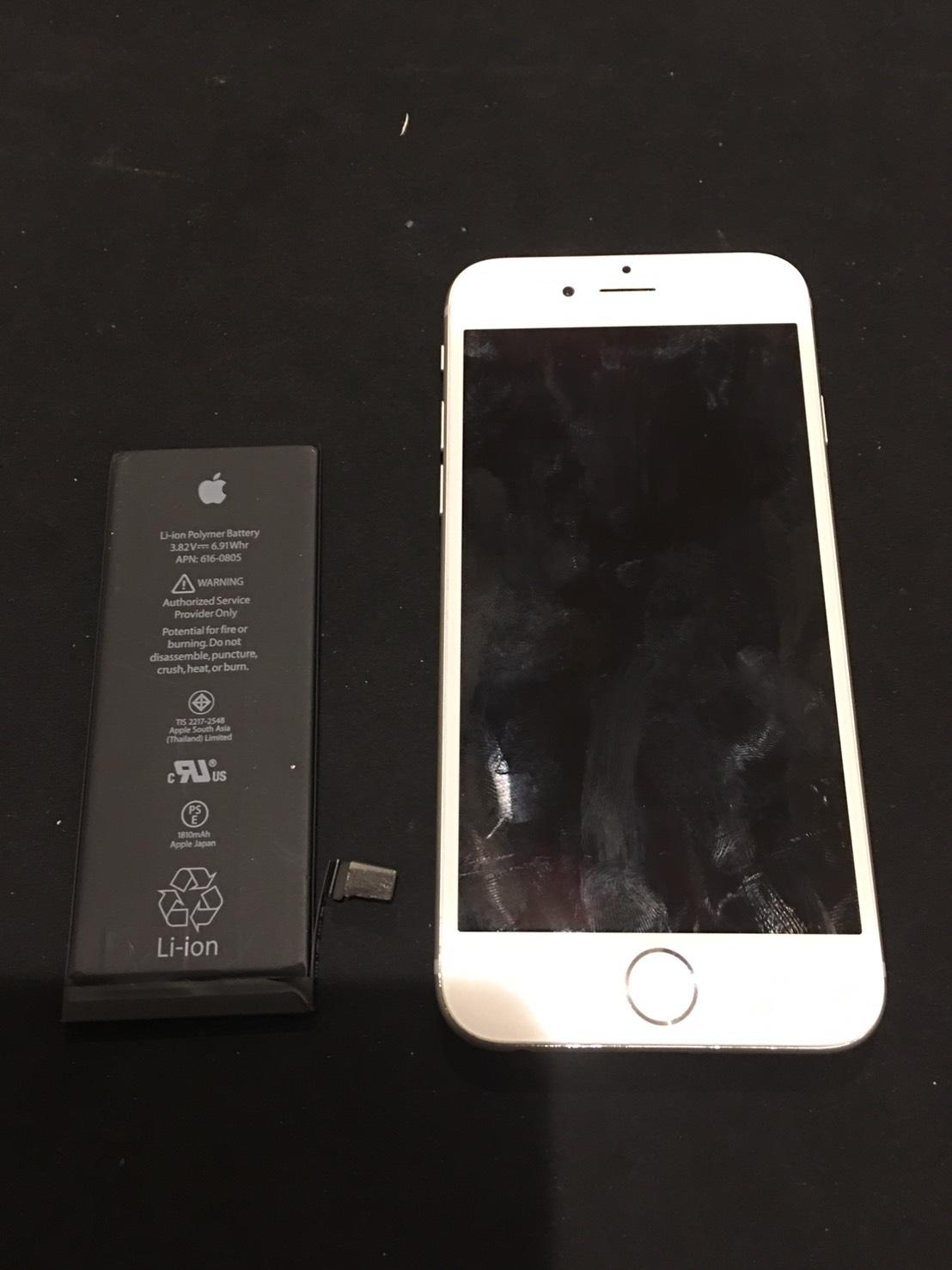 1.24 | iphone6 | バッテリー交換