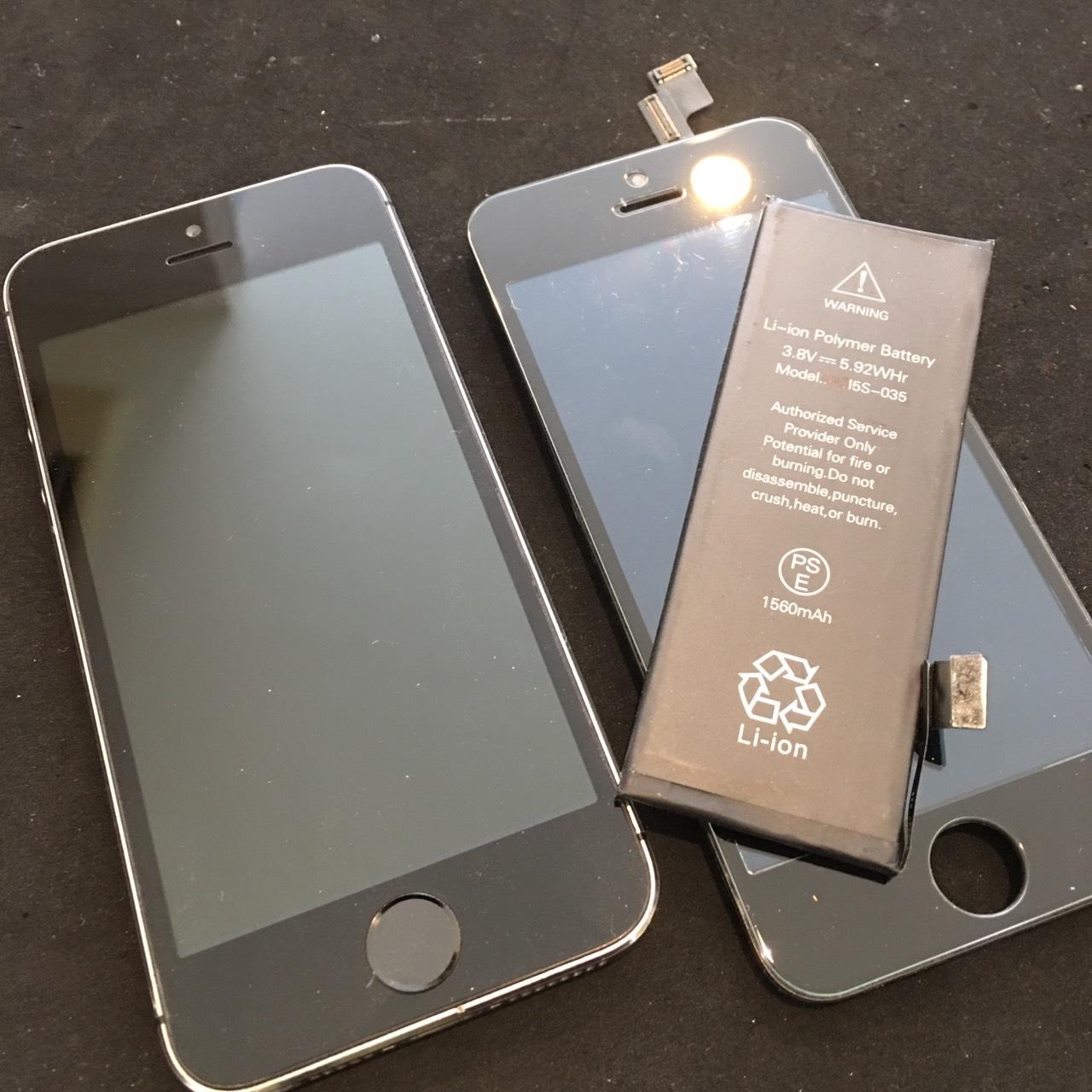 0721|iPhone5s|液晶パネル交換修理|バッテリー交換