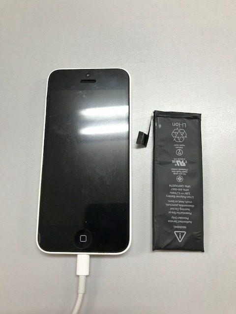 8.16| iphone5c | バッテリー交換