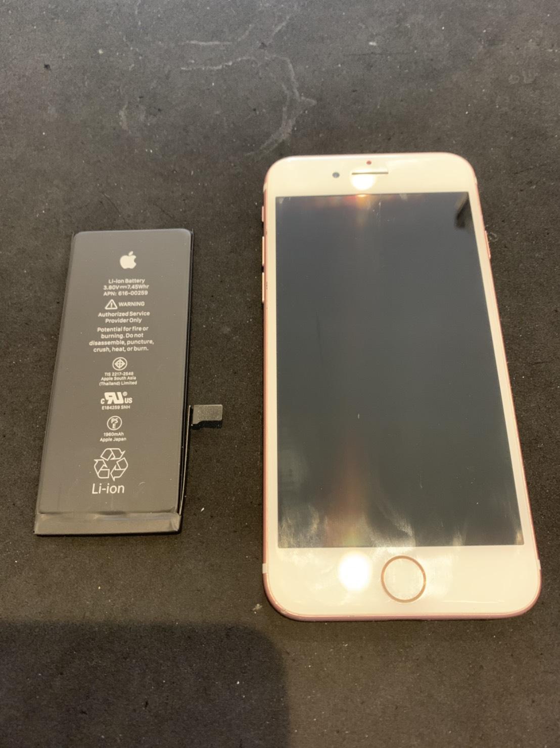7.24 | iphone7 | バッテリー交換1