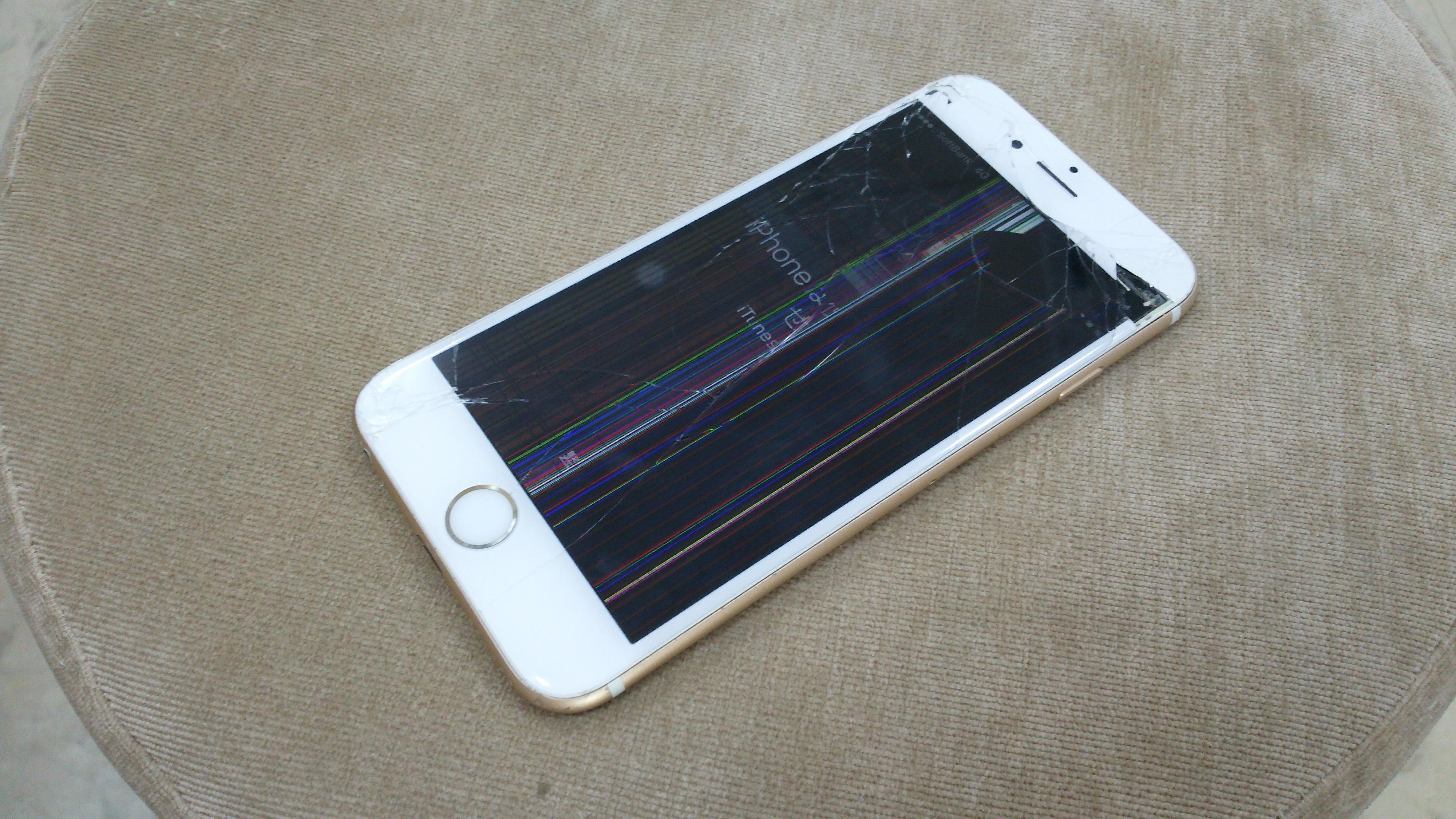 iphone | 割れ | 操作不可