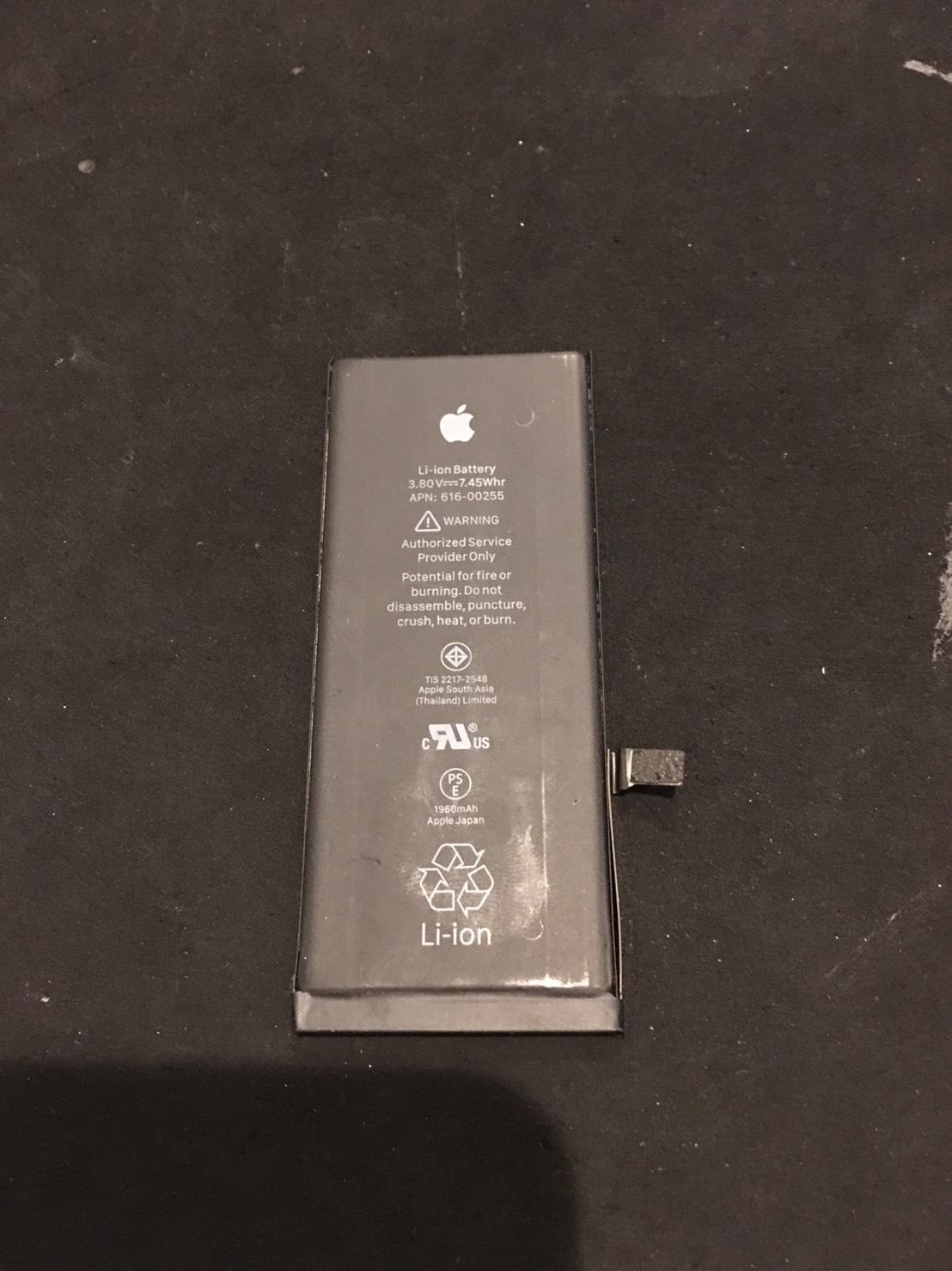 11.1 | iphone7 | バッテリー交換