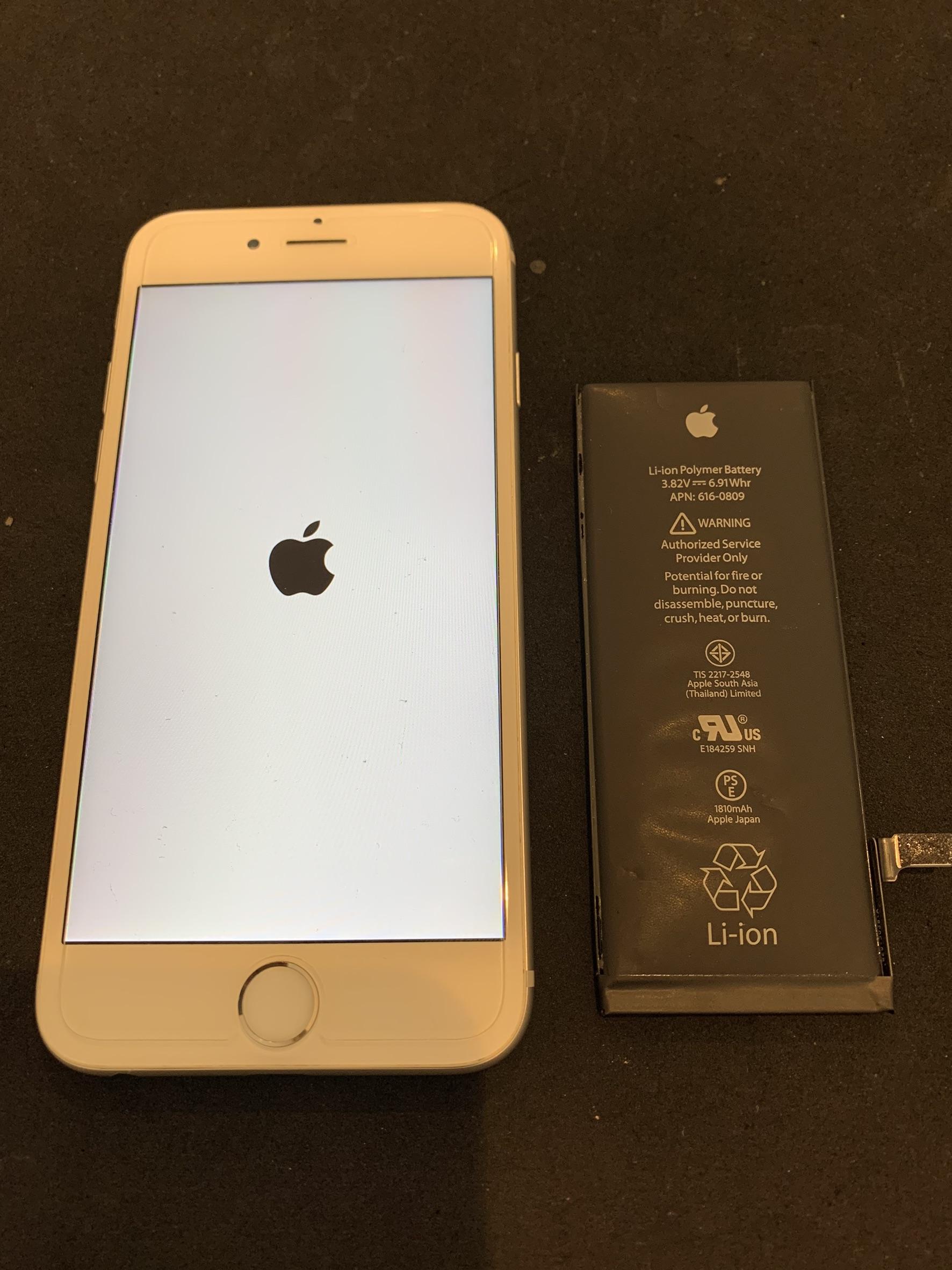 11.8 | iphone6 | バッテリー交換